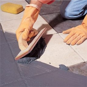 Photo 4: Grout the tiles