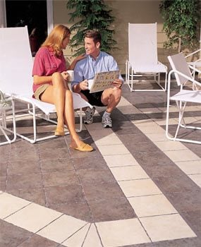 Good preparation and good materials are key to building a patio with ceramic tile.