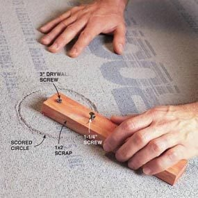 how to cut holes in cement board