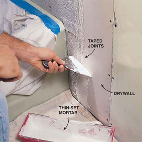Photo 12: Tape the seams with mortar