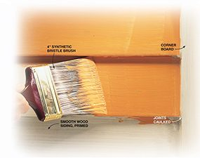 The best outdoor paint for smooth siding is 100 percent acrylic latex flat.