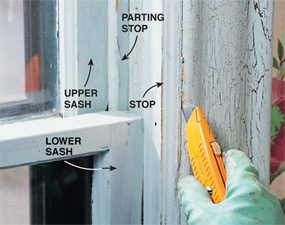 Lead paint removal goes faster if you remove the window stop.