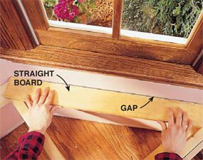 Complete the woodworking template by checking the wall for curves.