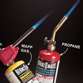 MAPP and propane tanks and torches.