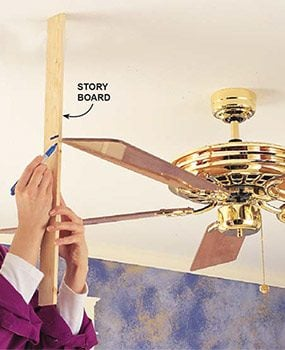 How to fix a wobbly ceiling fan family handyman check the blades and blade irons aloadofball Images