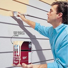 Painting aluminum siding.