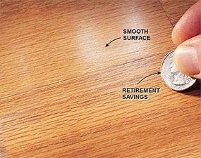 Make sure the polyurethane sticks before refinishing the hardwood floor.