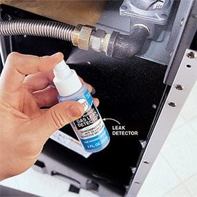 Test the fittings for leaks after you've installed the gas stove.