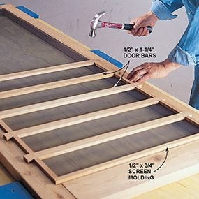 how to build a screen door cheap