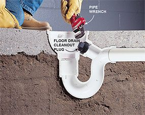 Remove the cleanout plug so you can unclog the rest of the drainpipe.