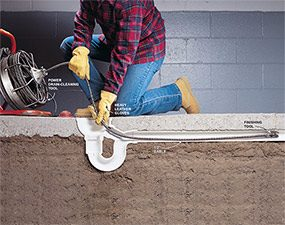 Use a drain-cleaning tool to unclog the rest of the drain.