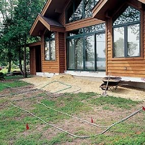 Use hoses to decide how big to make the deck.