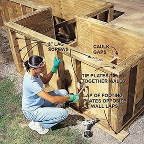 Strengthen the planter boxes so that they'll last as long as the deck.