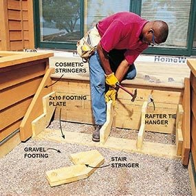 Build stairs for the deck that will last as long as the house.