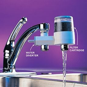 The best way to try out a water filter is to buy a carafe or faucet filter.