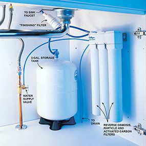 The best DIY household water filter is a reverse osmosis system.