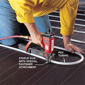 How hydronic radiant floor heating works the family handyman for Pex hot water heating system