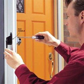 How To Fix Your Broken Storm Door Handles The Family Handyman