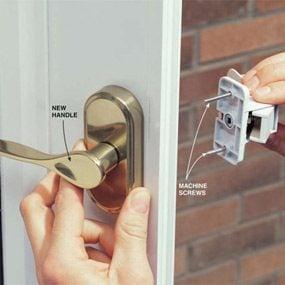 4. Assemble the door handle