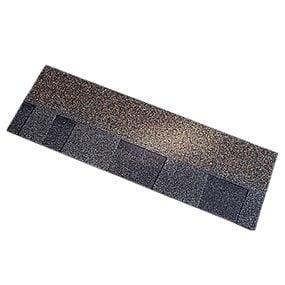 Standard asphalt roof shingles.