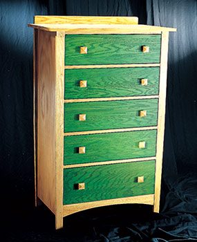The dresser in this photo shows how to get great results when you stain furniture.