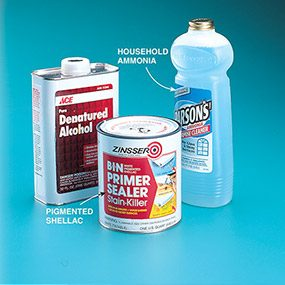 The solvents required for shellac-based paints.