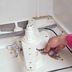 clogged dishwasher, how to unclog dishwasher, how to clean dishwasher drain