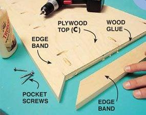 Photo 8: Pocket-screw edges