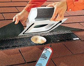 Nice Cut A Hole And Pull Back The Shingles When You Vent An Exhaust Fan Through  The ...
