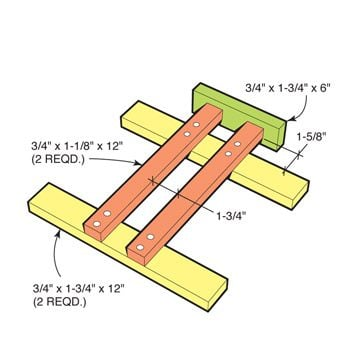 Use this jig for routing lap joints.