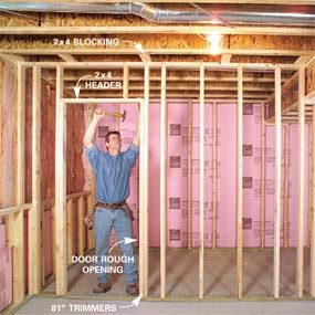 Wall Framing how to finish a basement: framing and insulating | family handyman