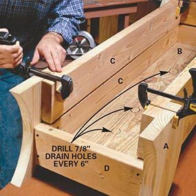 Clamp sides to legs