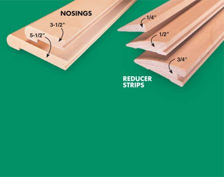 <b>Photo 20A: Special transition boards</b></br> Either buy special transitions for various situations or make your own on a table saw.