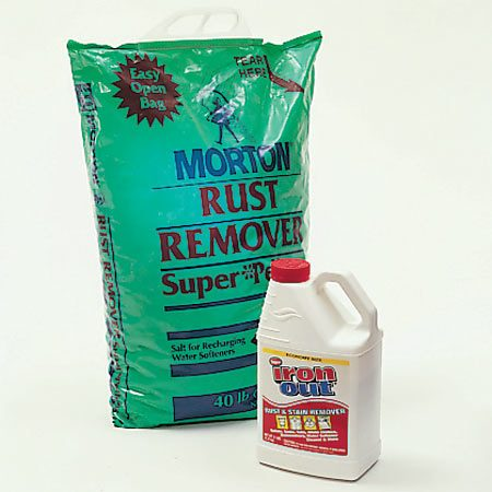 Using pure salt, instead of rock salt, and Iron-Out<br/> helps keep your water softener clean.