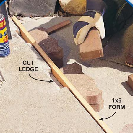 <b>Close-up of Photo 9 </b></br> Cut the underside of the break as well to make a firm ledge.