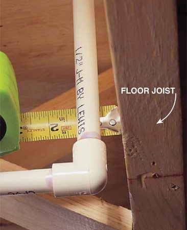 <b>Photo 8: Leave clearance at corners</b><br/>Leave at least 1/2-in. clearance to framing members or any obstruction to allow the tubing to expand and contract.