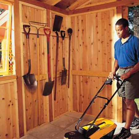 <b>Spacious interior storage</b></br> This shed measures 7-1/2-ft. x 13-ft., giving you about 100 sq.ft. of storage space.