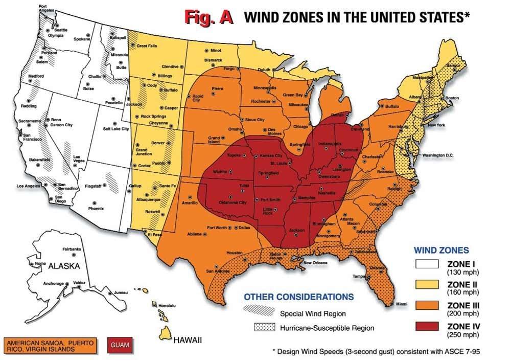 Wind zone map