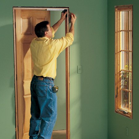 <b>Get set up and ready to start</b></br> Clear the room you want to trim out and make your cuts in the middle of the floor. Put a fan in the window if dust is a problem.