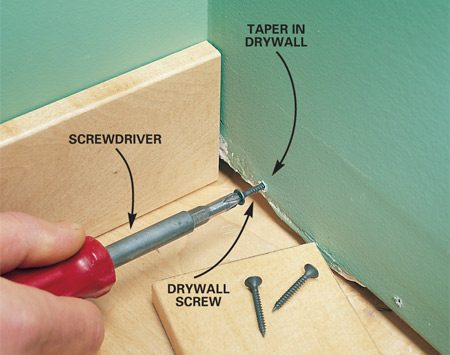 Support trim with screw