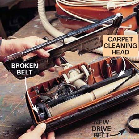 How To Replace A Vacuum Cleaner Belt The Family Handyman