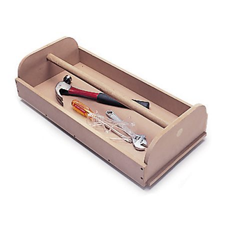 <b>Photo 9: Removable bin</b></br> The dowel handle makes this bin great for hauling items to your projects.