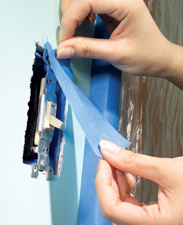 <b>Removing obstacles saves a lot of time</b></br> <p>Paint  slopped on electrical cover plates, switches and   outlets  looks tacky. Don't try to paint around them.   Removing  cover plates takes just a few seconds and   makes for a  faster, neater job. Grab a small bucket to   hold all the  odds and ends you'll take off the walls.   Unscrew  cover plates and then shield each switch or   outlet with  2-in.wide masking tape. Also remove curtain   hardware,  picture hooks, grilles that cover duct   openings and  anything else that might get in your way.</p>
