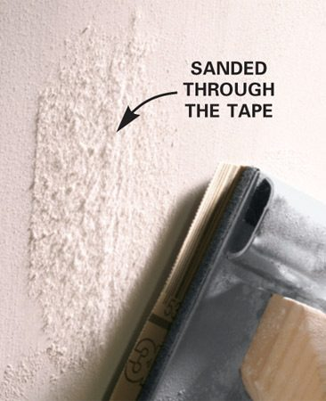 <b>Use moderate to light pressure</b></br> <p>Even though  using a hand sander is straightforward, the drywall   pro we  talked to offered these helpful tips. Use moderate   to light  pressure and avoid sanding over the same spot in a   straight  line. This can leave a groove or depression that will   show up when  you paint. Instead, move the sander around   on the joint  as you sand. If you do sand too much in one   spot, touch  it up with joint compound   and resand when it dries. </p>