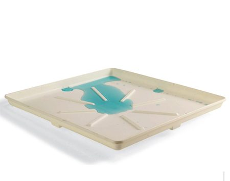 <b>Splash pans are available at home centers</b></br> Once upon a time, water heaters and clothes washers always sat on concrete floors near drains, where spills and leaks wouldn't hurt anything. Now they often sit on framed wood floors, sometimes on the second floor, where spills, overflows, broken hoses or slow drips can cause stains, rot and other potentially expensive water damage. For about $20, you can buy special pans at home centers and appliance dealers that catch slow leaks and mild overflows. Some have drain holes where you can connect a tube that leads to a floor drain. They won't stop burst water lines or massive overflows, but they're cheap insurance against water damage caused by minor spills and leaks.
