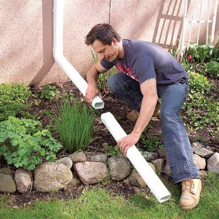 <b>Extensions prevent water damage</b></br> A 1-in. rainfall drops about 650 gallons of water on an average roof. And your downspouts concentrate all that water in only a few spots. If dumped too close to the house, the water will undermine your foundation, causing it to leak, shift or crack&emdash;very expensive to fix. Downspout extensions will prevent most major problems, including wet basements, cracked foundation wall is, and termite and carpenter ant infestations.
