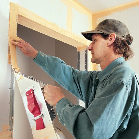 <b>Tape drywall like a pro</b></br> Each coat of joint compound is a different color in this article so you can easily see the order of application.