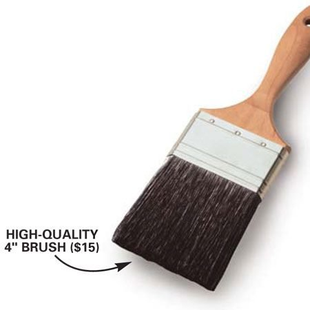 <b>Top-quality brush</b></br> Investing in good equipment pays off in faster, better quality work.
