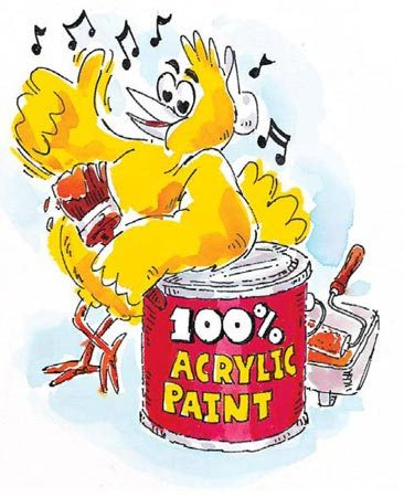 <b>100% acrylic paint</b></br> Remember, you get what you pay for.
