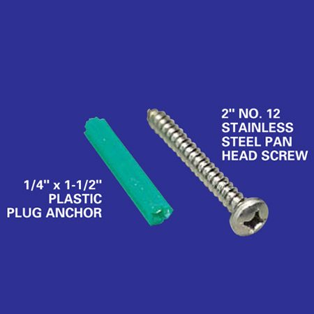 Plastic anchor and screw